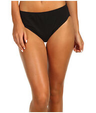 SPEEDO HIGH WAIST CORE COMPRESSION BIKINI SWIM BOTTOM SWIM BLACK SIZE 6 NEW! $44