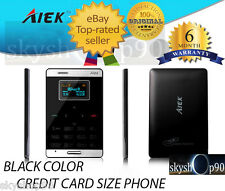 World's Ultra Slim Credit Card Size & Smallest GSM touch Mobile Phone!! AIEK M3