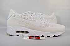 NEW Nike Air Max 90 Ultra Moire TRIPLE WHITE 819477-111 sz 7.5