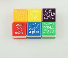 2x Teacher Self Inking Stamper Reward Stamps Praise Motivation Sticker School MW