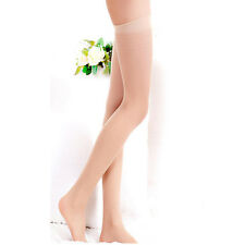 Women Sexy Sheer Thigh High Silk Stockings Hold-up Lingerie Tights Black Socks