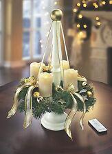 Adventskranz mit Holzständer creme Weihnachten Deko Kranz Advent Tischkranz