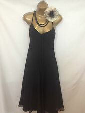 TED BAKER UK 8 DESIGNER 100% SILK STUNNING BLACK SPECIAL OCCASION DRESS