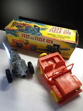 RARE Jeep and field Gun Canon Tudor Rose Action Toy Tudor Rose Avec Boite