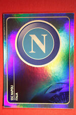 PANINI CHAMPIONS LEAGUE 2011/12 N 56 NAPOLI BADGE WITH BLACK BACK MINT!!