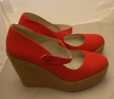 Kenneth Cole Size 9 Wedge Red Mary Jane