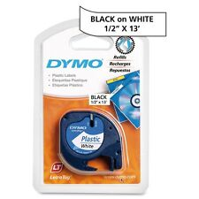 Dymo LetraTag 91331 Polyester Tape - Direct Thermal - White - Polyester - 1 Each