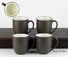 Set of 4 Mugs, 12 oz., MINT UNUSED! Colorwave Chocolate Coupe, Noritake, 8046
