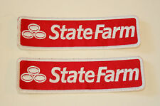 2 Vtg State Farm Home & Auto Insurance Company Cloth Patch New NOS 1980s
