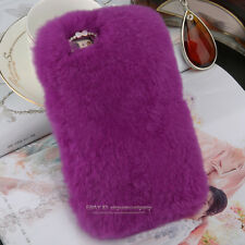 For iPhone Back Case Cover Luxury Warm Soft Comfy Fluffy Rabbit Fur 4 5s 6s Plus