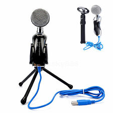 Professional Condenser USB Microphone Mic Audio Studio Sound Recording + Stand