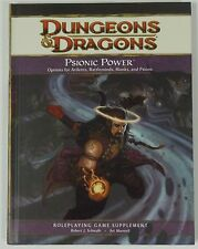 D&D 4th Edition Psionic Power Book NEW Roleplaying d20 4.0 Monks Psions Ardents