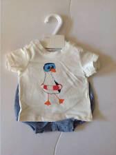 NWT H&M SEA GULL 2-PC Set Tee Diaper Cover Boys 0-1 M EUR 50