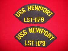 2 US Navy Patches: USS NEWPORT LST-1179