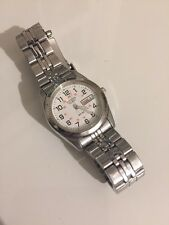 Citizen EQ0510-58A Women's Stainless Steel Railroad Approved White Dial Watch