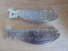 82-1823 1938 -58 UNIDAD PRE TRIUMPH 3T 5T 6T T20 T100 T120 Cromo Insignia De Tanque (PR)