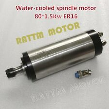 1.5kW Water cooled spindle motor ER16 400HZ 80mm for CNC ENGRAVING MILLING GRIND