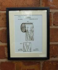 USA Patent Drawing BATHROOM TOILET LOO PAPER ROLL  MOUNTED PRINT 1891 Gift
