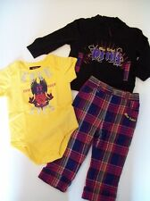 NEW Girls BLAC LABEL 3pc SHIRT JACKET PANTS OUTFIT 24M