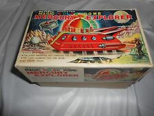 TPS / TOPLAY Japanese Tin Litho Batt Op 1960s MERCURY EXPLORER SPACE SHIP w/ BOX