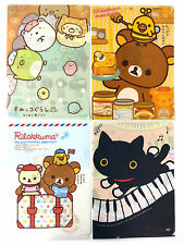 San-X Rilakkuma Charactor Plastic A4 File Folder - 4 Assorted Color - B (5C98)