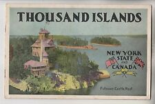 CIRCA 1940s THOUSAND ISLANDS BOOKLET - NEW YORK STATE AND CANADA