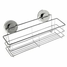 Stainless Steel Shower Caddy Wall Sucker Up Bathroom Shelf Rack Holder Organizer