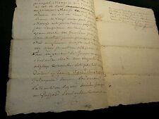 ANTIQUE MANUSCRIPT   1758
