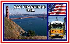 SAN FRANCISCO, USA - SOUVENIR NOVELTY FRIDGE MAGNET - BRAND NEW - GIFT