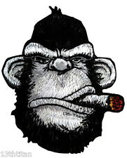 HOOK patch Angry Ape Victory cigar Tactical Morale Pew Operator Beard club