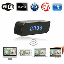 720P WIFI IP Spy Camera Alarm Clock Night Vision Detection Hidden Video Recorder