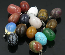 Wholesale Fashion Mixed natural stone eggs charms pendants 10pcs/lot