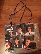 RARE vintage Duran Duran VERKERKE vinyl hand bag book bag tote 1984