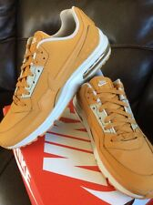 Nike Air Max 1 LTR PRM Wheat 705282-700 Flax Suede leather Brown ,US size M12