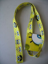 "Sponge Bob Square Pants Yellow Lanyard 18"" New Nickelodeon"