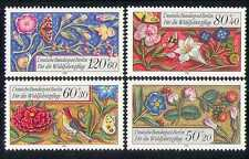Germany (B) 1985 Flowers/Bee/Bird/Butterflies 4v n28265