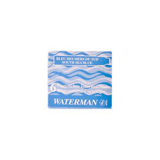 Waterman Cartridges Short Size - South Sea Blue 6 Pack