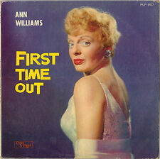 "RARE ANN WILLIAMS ""FIRST TIME OUT"" VOCAL JAZZ LP 1963 CHARLIE PARKER PLP-807"