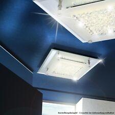 12 Watt LED Wohnzimmer Decken Lampe Kristall klar Flur Bad Leuchte Spiegel Rand