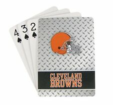 CLEVELAND BROWNS 52 PLAYING CARDS DECK DIAMOND PLATE POKER  NFL FOOTBALL