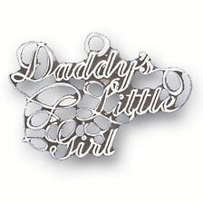 "Sterling Silver 925 ""Daddy's Little Girl"" Pendant Charm Father Daughter Love"