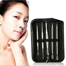5Pcs Surgical Extractor Tools for Acne Treatment Pimple Popping Blackhead kit