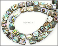 "16"" Paua Abalone Flat Rectangle Beads 8x10mm #75076"