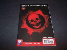 GEARS OF WAR #1 1ST PRINT BLACK CRIMSON OMEN COVER XBOX360 VIDEO GAME COMIC 2 3