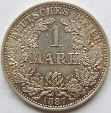 TOP! 1 Mark 1887 A in VORZÜGLICH / STEMPELGLANZ SELTEN !!!