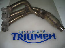 TRIUMPH DAYTONA 675 R OVAL DOWN PIPE HEADERS 2013 14 15