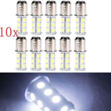 10pcs T25/S25 1157 Bay15d 18-SMD 5050 LED Tail Brake Stop Light Bulb Xenon White