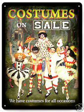 Costumes METAL SIGN halloween Store Sale Display vintage style wall decor 231