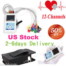 Portable 12-Channel 24H ECG EKG Holter Analyze System,Software Recorder Monitor
