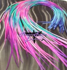"Feather hair extensions Tie Dye GORGEOUS Solids 12 - 15"" Limited Stock DIY Kit"